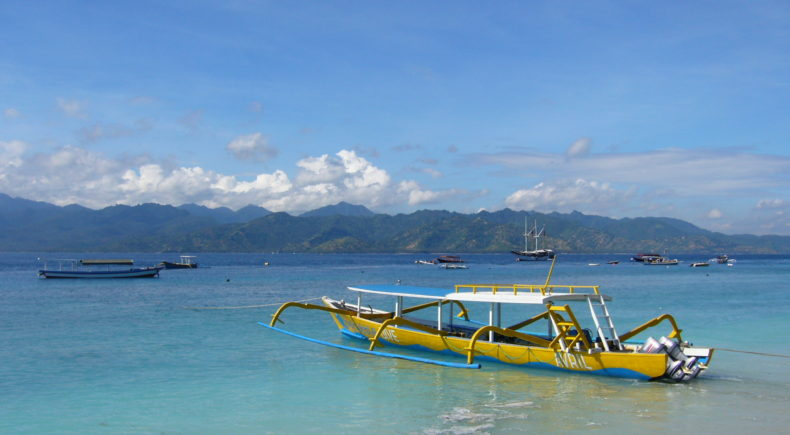 Incredible views in the Gili Islands.