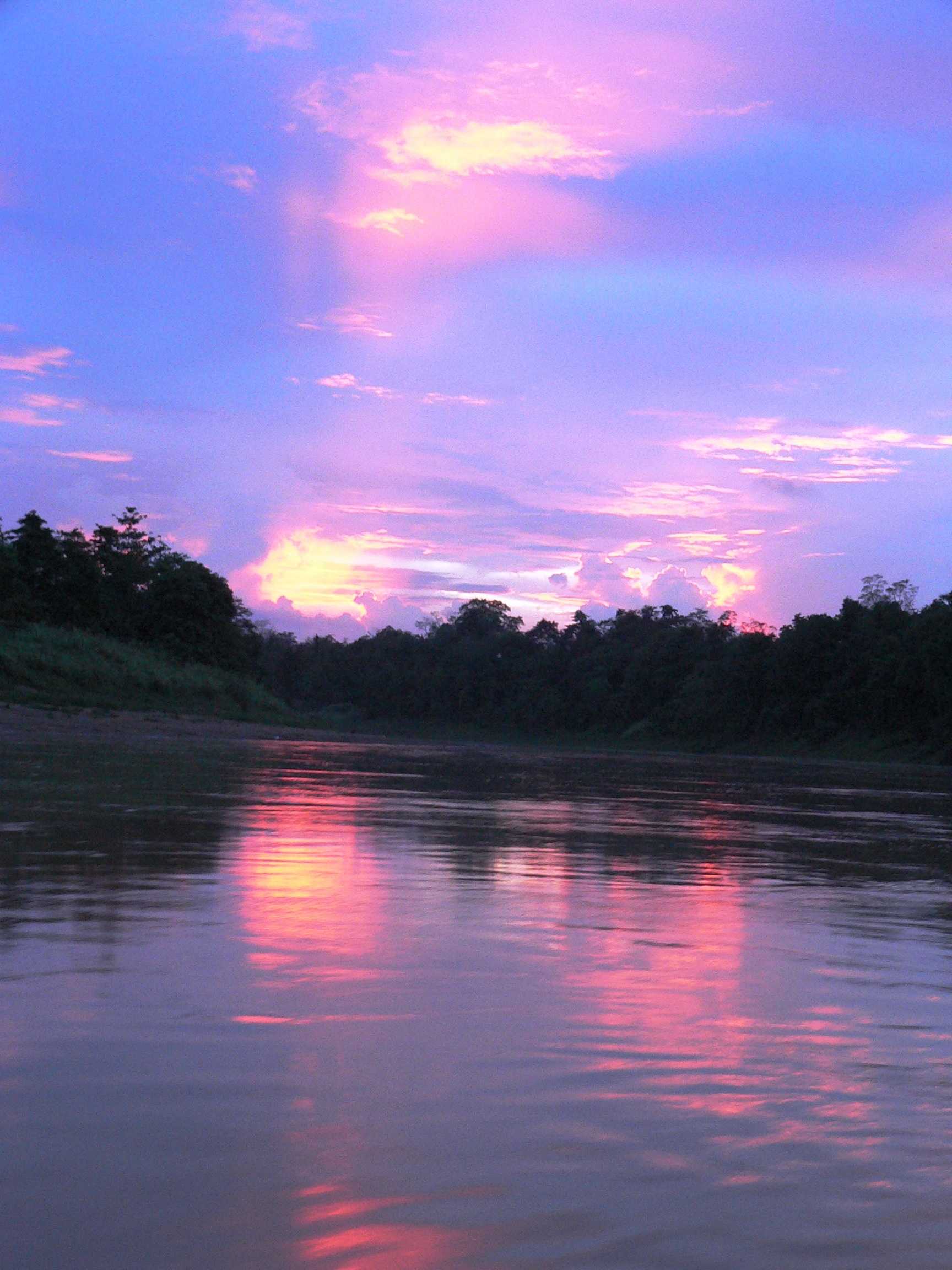 Sunrise over the Kinabatangan River Basin, Borneo, Malaysia