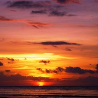 Gili Islands, Indonesia sunset
