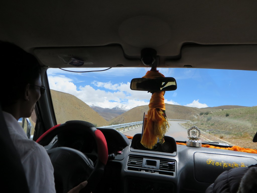 On the road in Tibet.