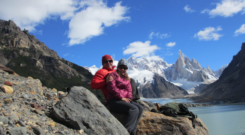 Cerro Torre in the background. Laguna Torre, Patagonia.