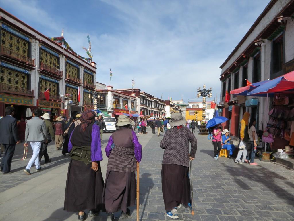 Downtown Lhasa.
