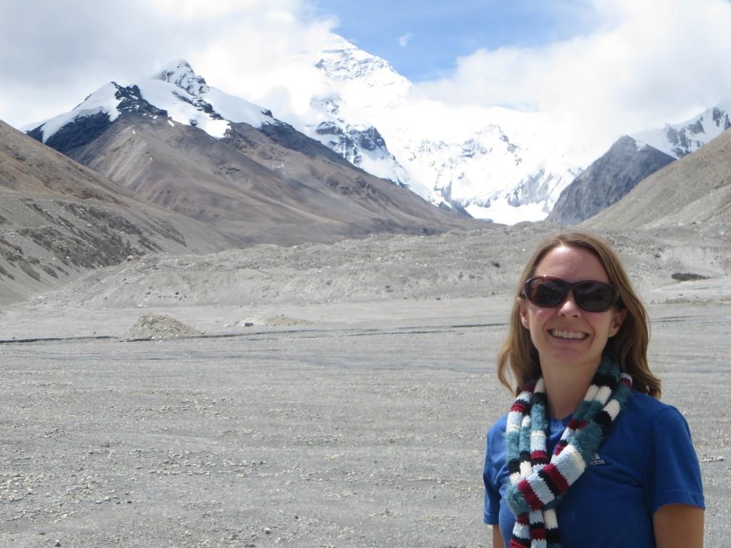 Shani at Everest Base Camp.