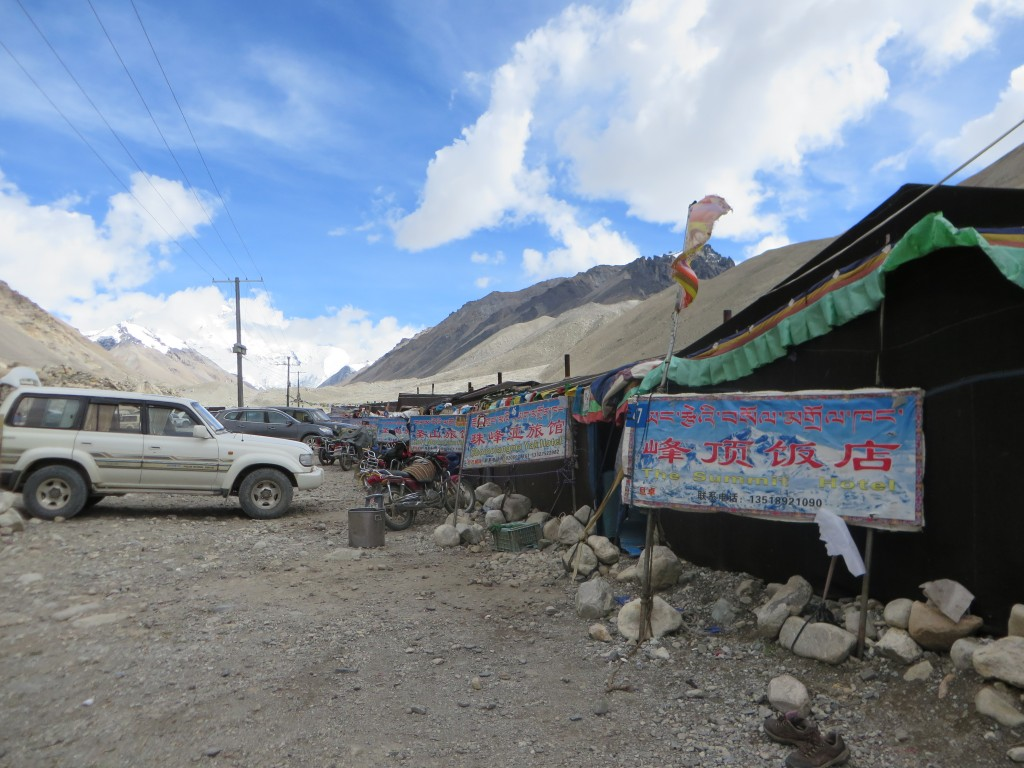 The yak tent city at Everest Base Camp.