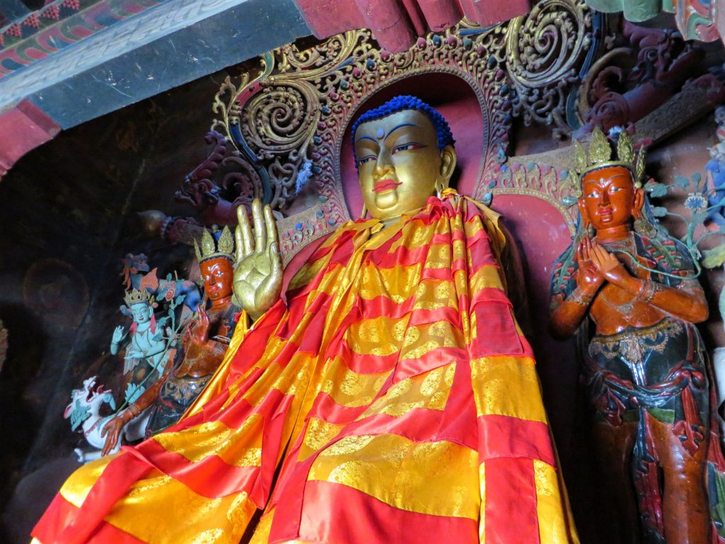 One of the many statues of Buddha.