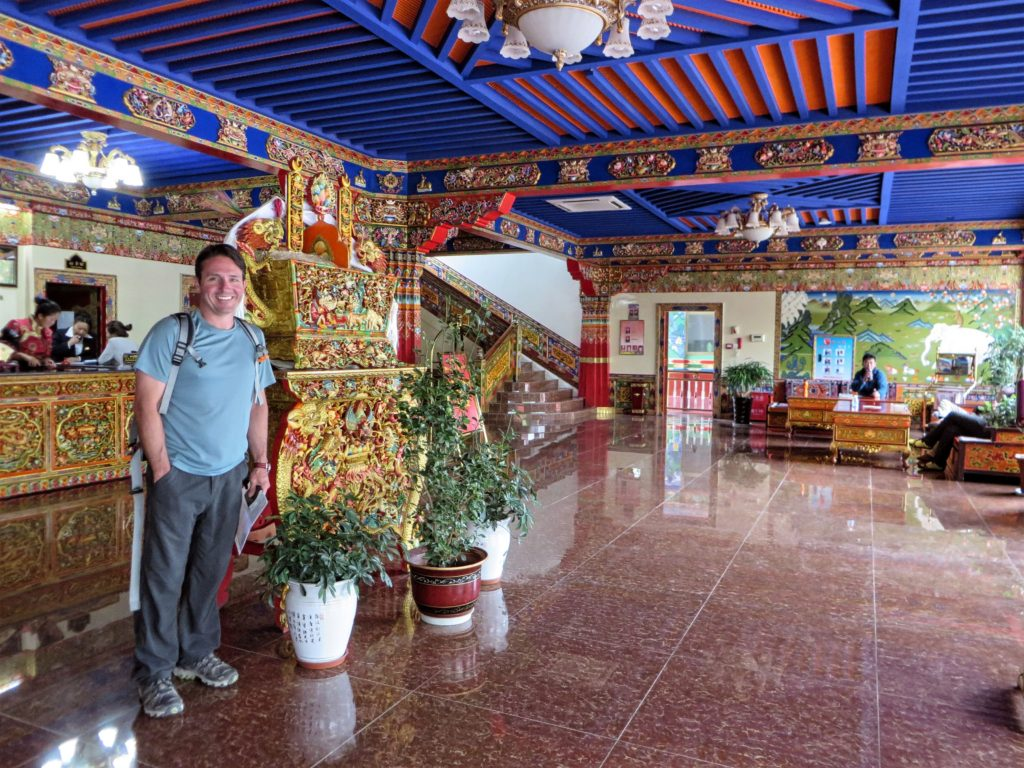 Reception at the hotel in Shigatse.