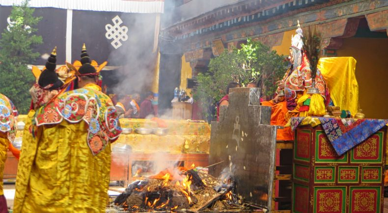 Ceremony in Lhasa.