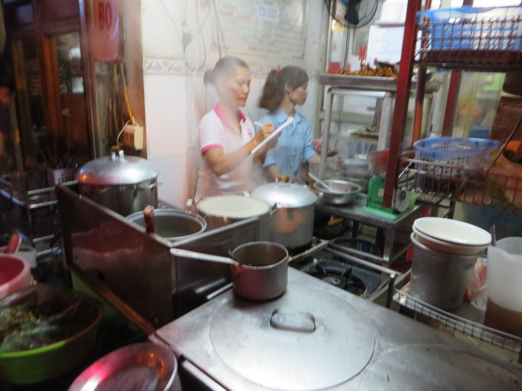 Vietnamese ladies making something delicious!