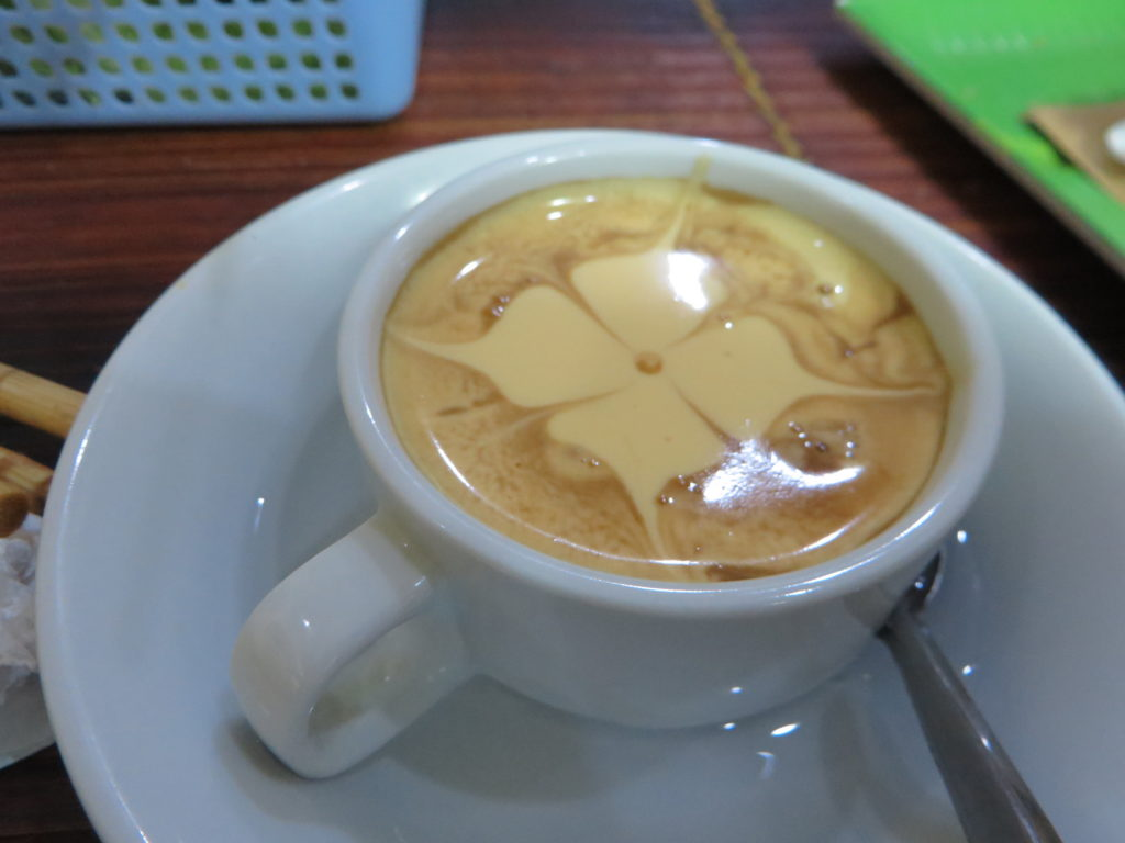 The famous egg coffee of Hanoi.