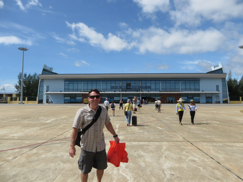 Landed at Dong Hoi with pastries and fruit in tow.