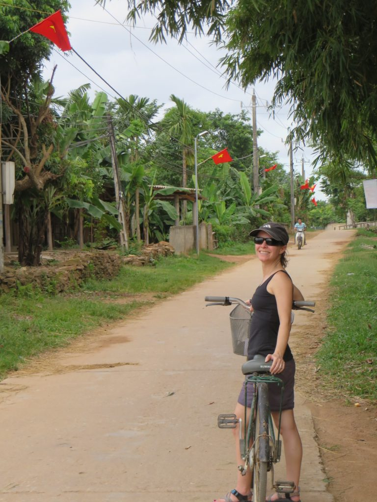 Biking in rural Vietnam is really cool.