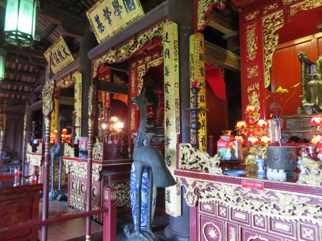 Inside the Temple of Literature.