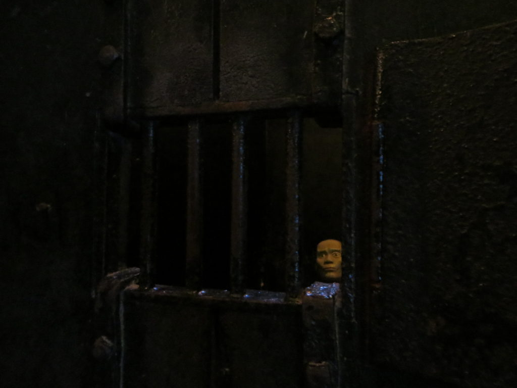 One of the cells in Hoa Lo Prison.