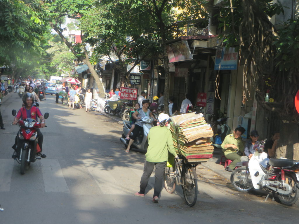 Streets in the Old Quarter of Hanoi.