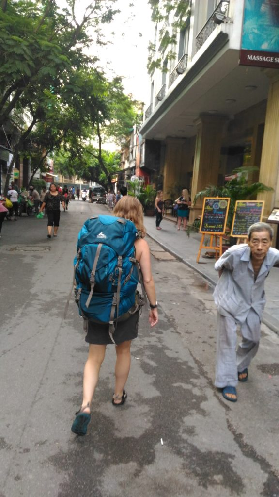 Off to catch the bus to Cat Ba.