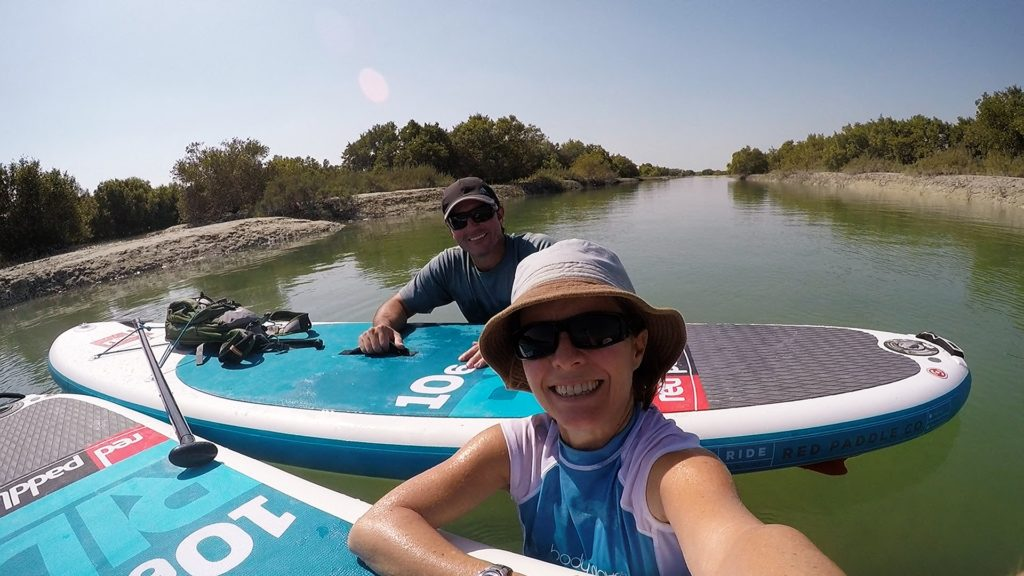 A selfie in the mangroves opposite Kite Beach.