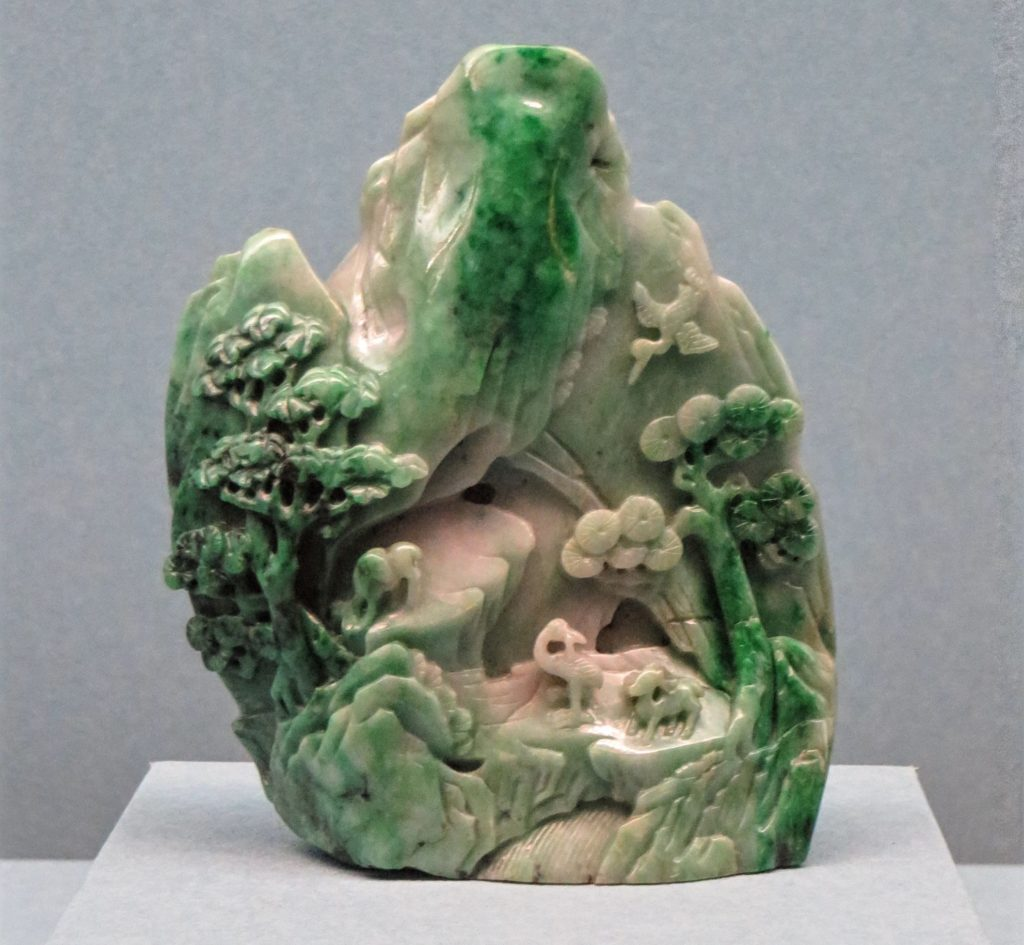 One of the many impressive jade pieces in the museum.