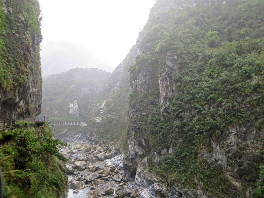 Driving into Taroko Gorge.