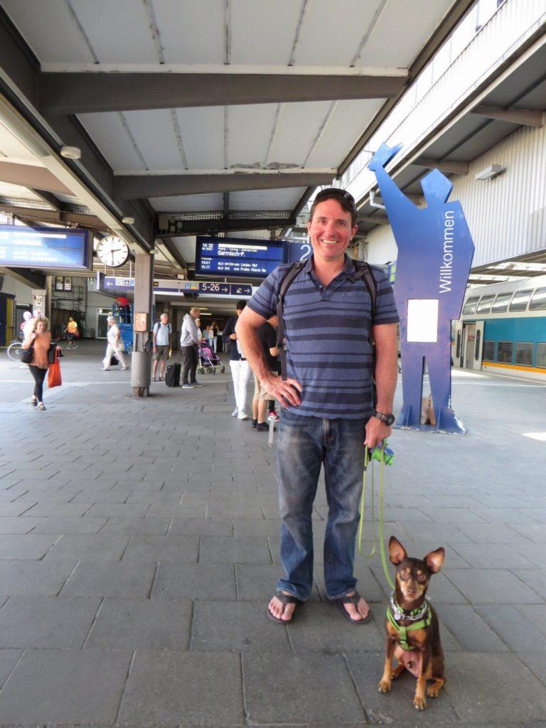 Sebastian at the Munich train station.