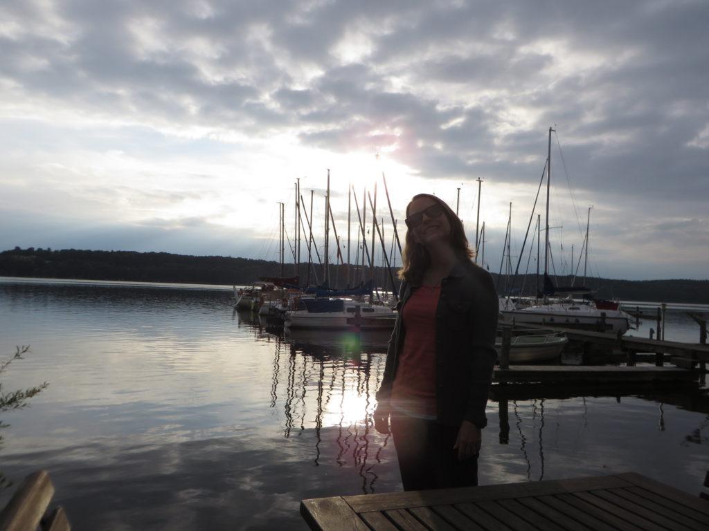 Shani by the lake in Ratzburg.