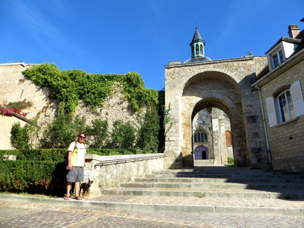 Sebastian and I exploring rural French villages.