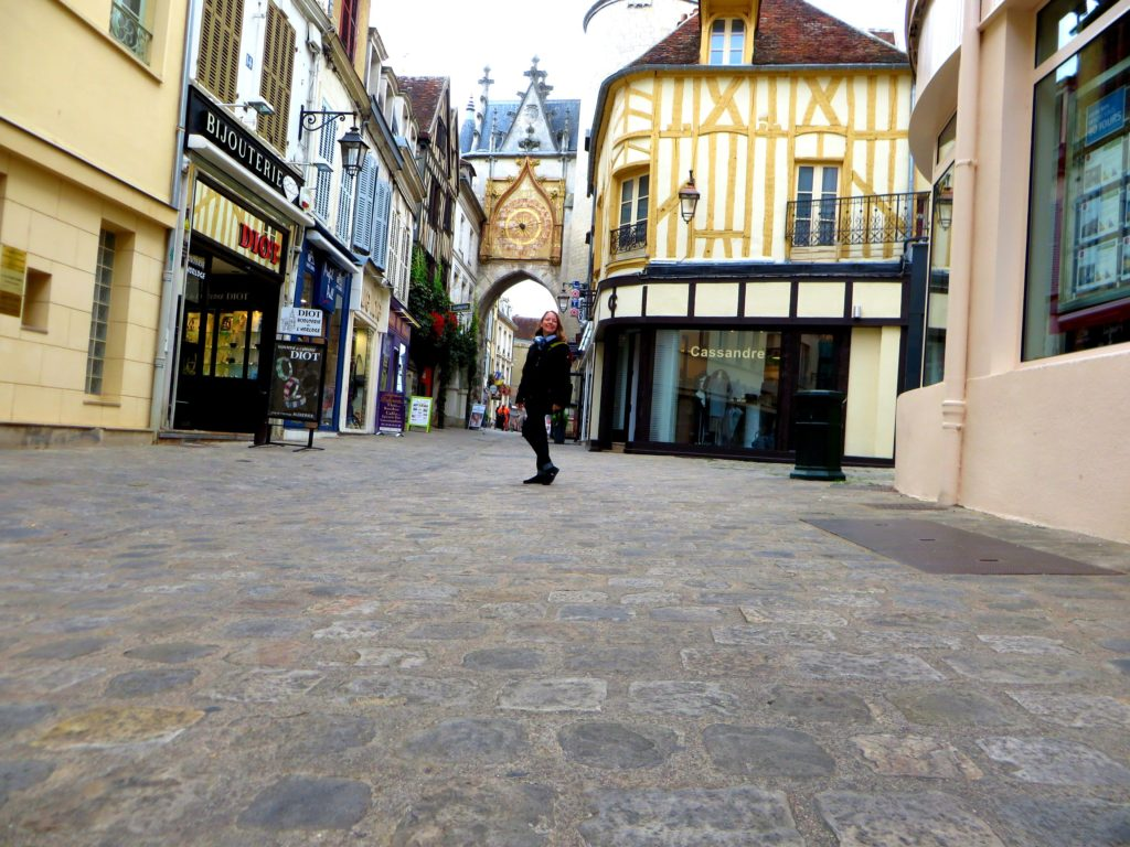 Shani takes a selfie in Auxerre.