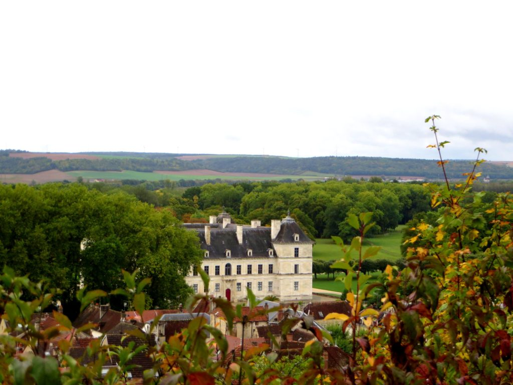 The chateau as seen from the church on the hill.