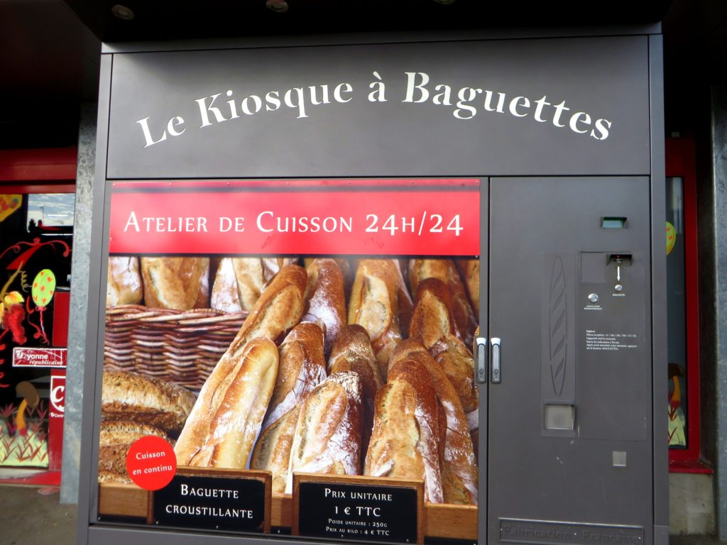 Baguette vending machine in Chablis.