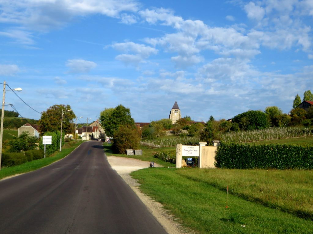 The road into Chablis.