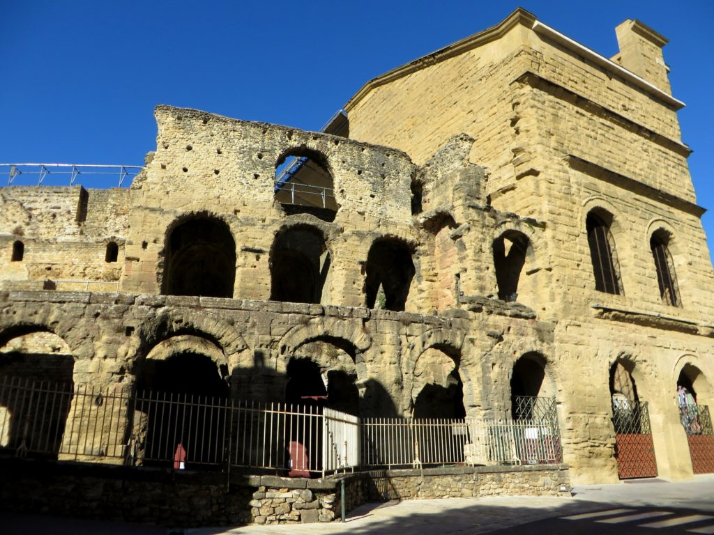 Restored Roman theater in Orange.