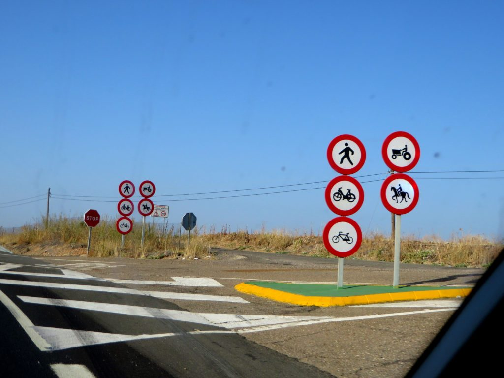 The road rules in Spain.
