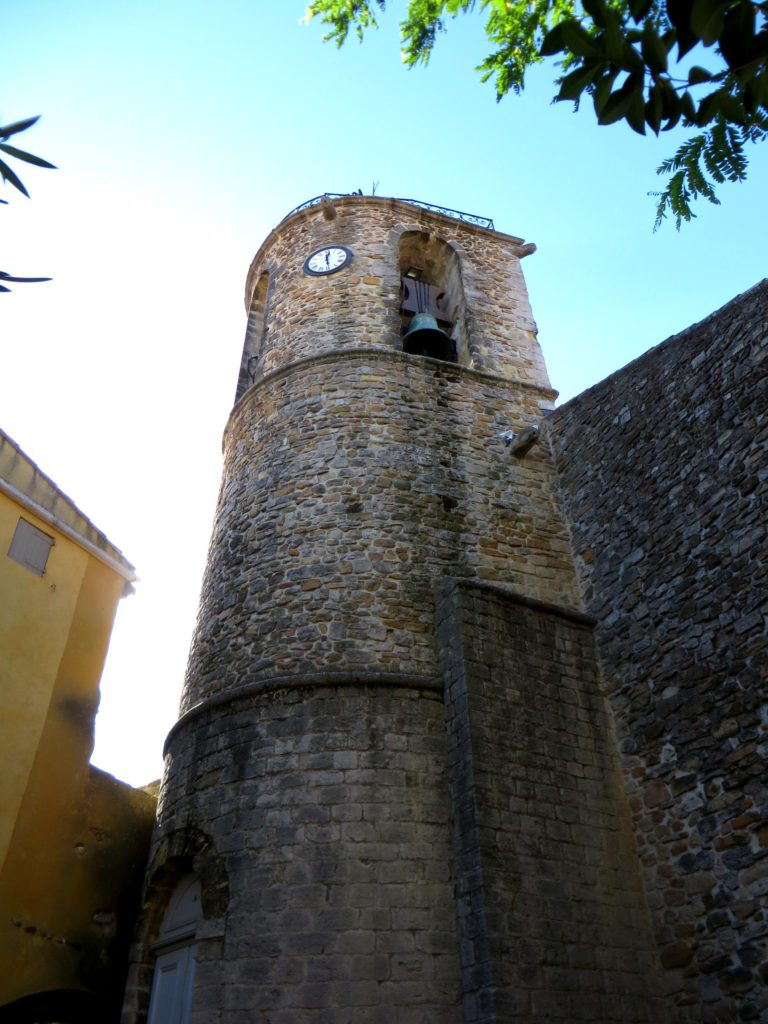 The belltower in the small village.