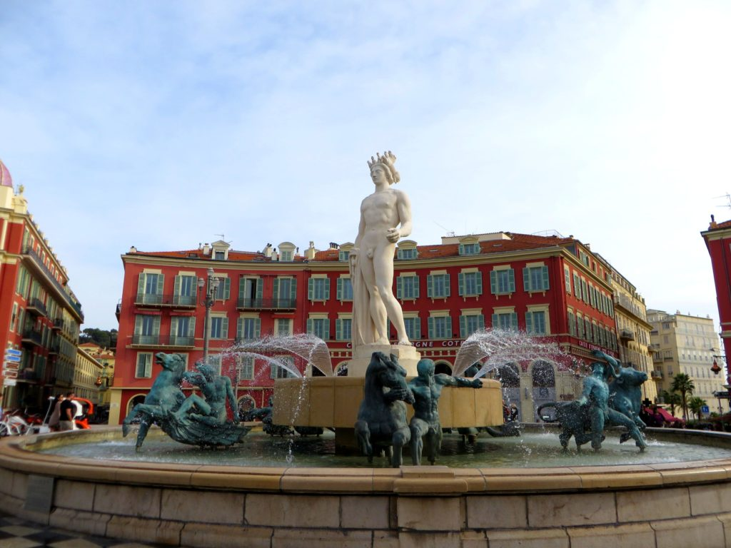 The statue in Nice.