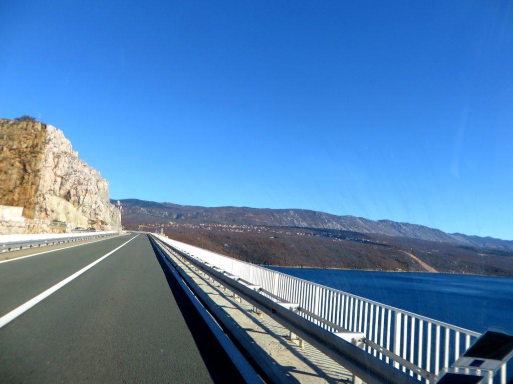The bridge leaving Krk.