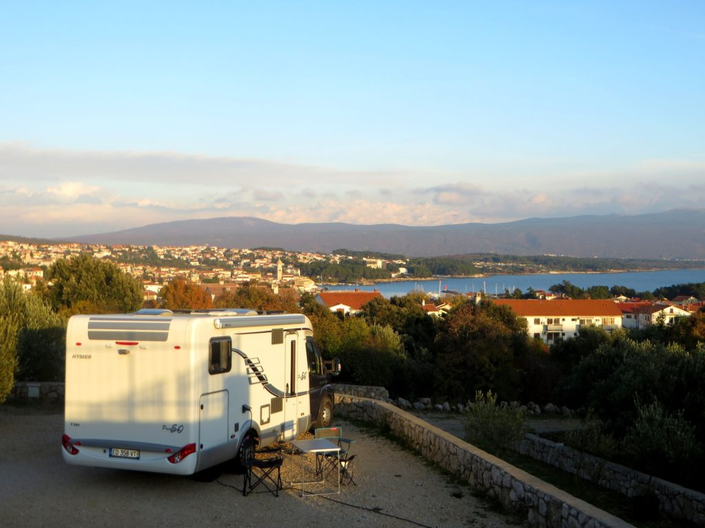 View from Camping Bor.
