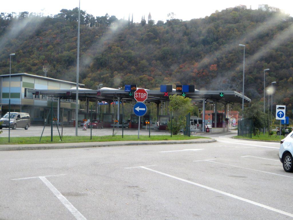 Crossing into Croatia.