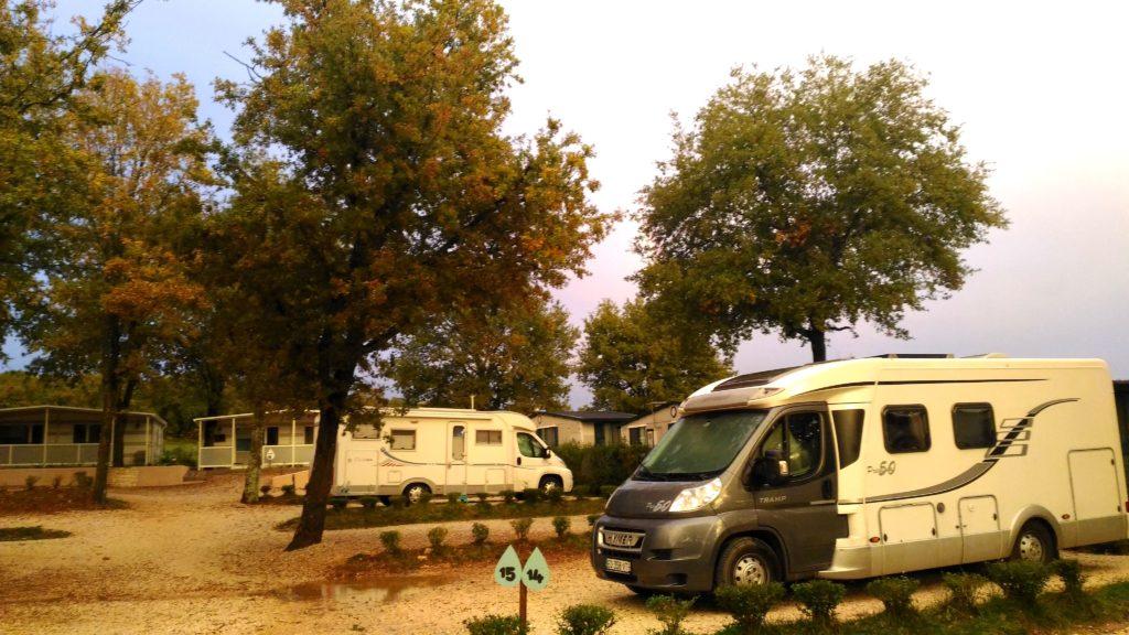 The camping at Polidor.