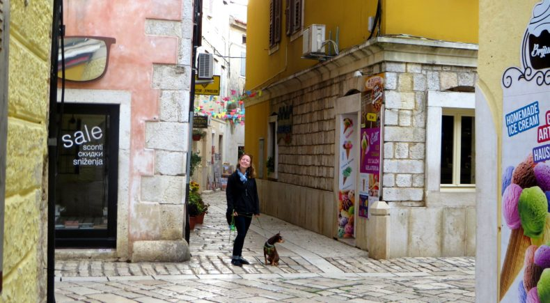 The streets of Porec.