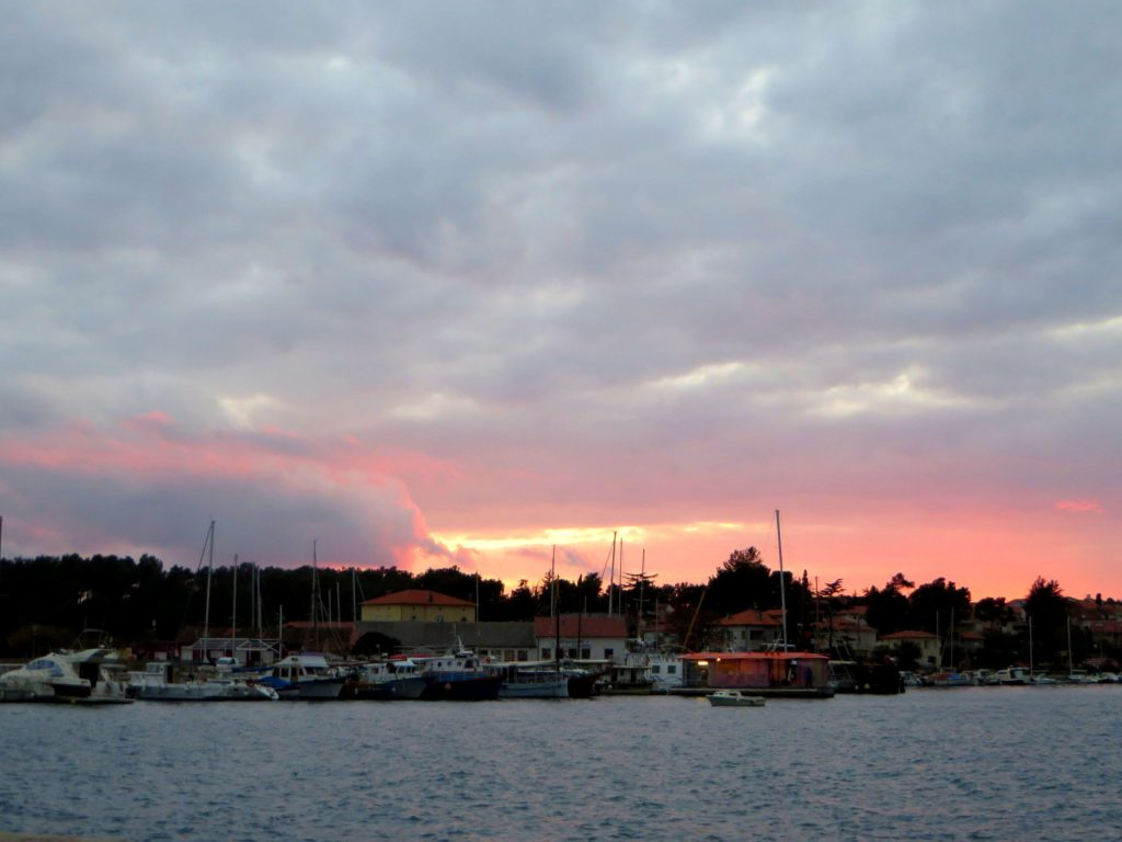 Sunset at the marina.