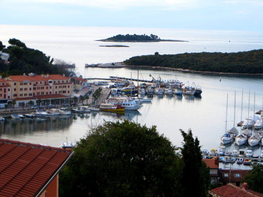 View down on to Vrsar marina.