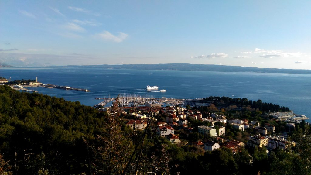 Ferries and cruise ships are in an out of Split all the time.