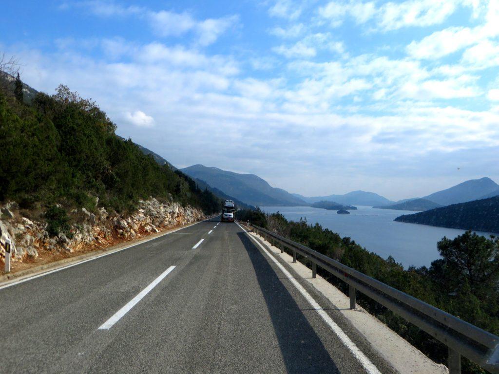 Driving the coast of Croatia.